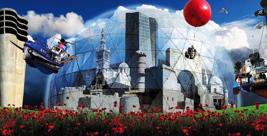 <em>The Next City</em> sur les façades de la rue de la République