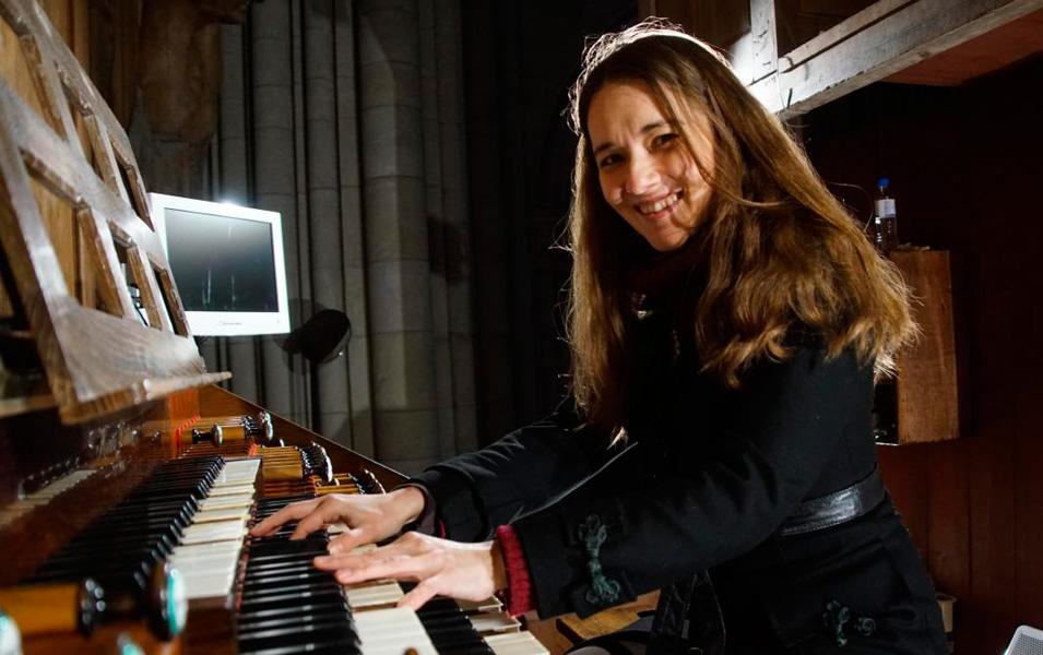 Lidia Ksiaskiewicz à l'orgue